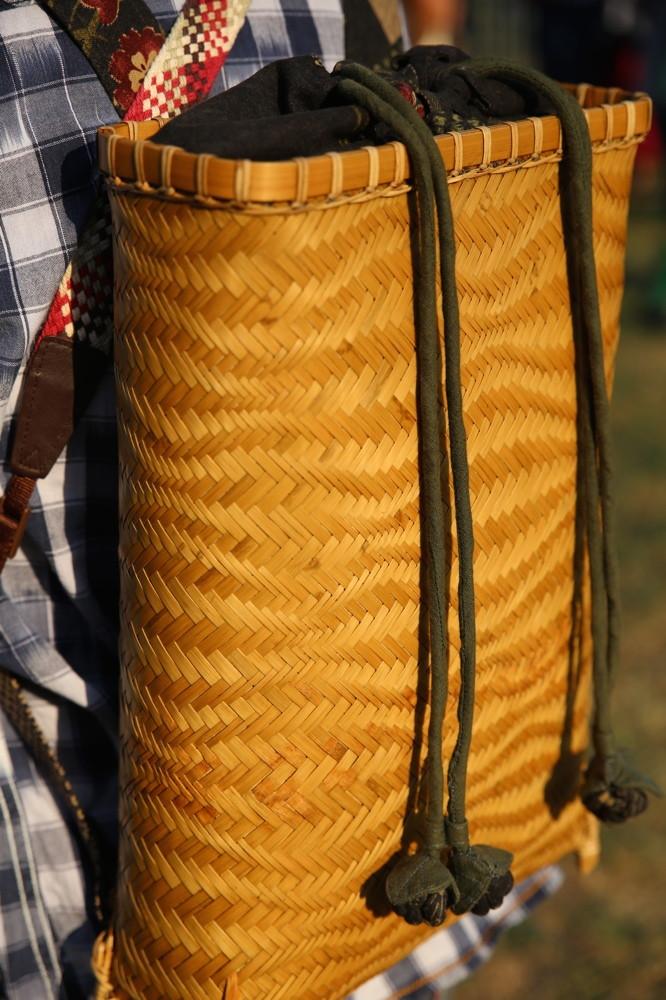 Magnifique sac à dos d'un vannier Taiwanais, Bamboo