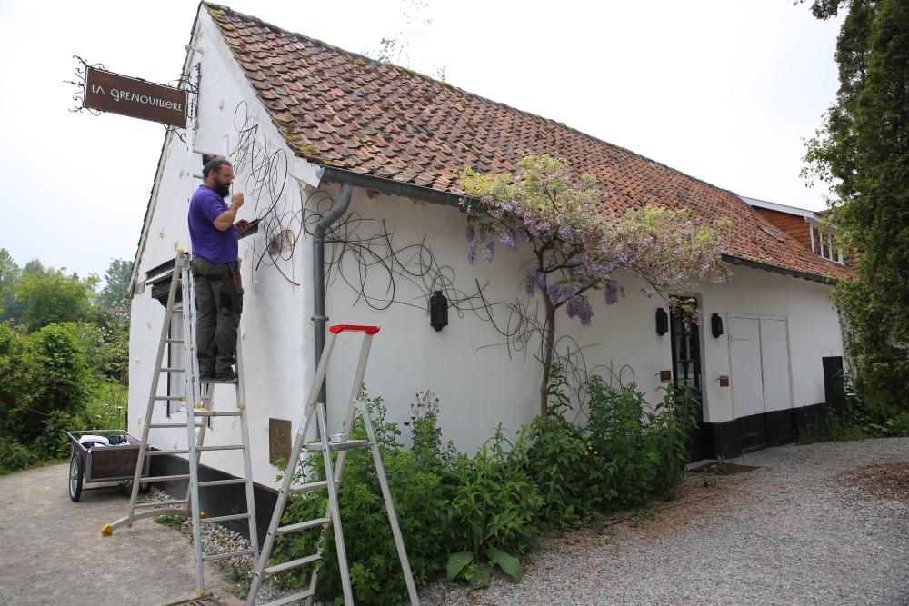 L'osier dessine sur les mur de la Grenouillère...