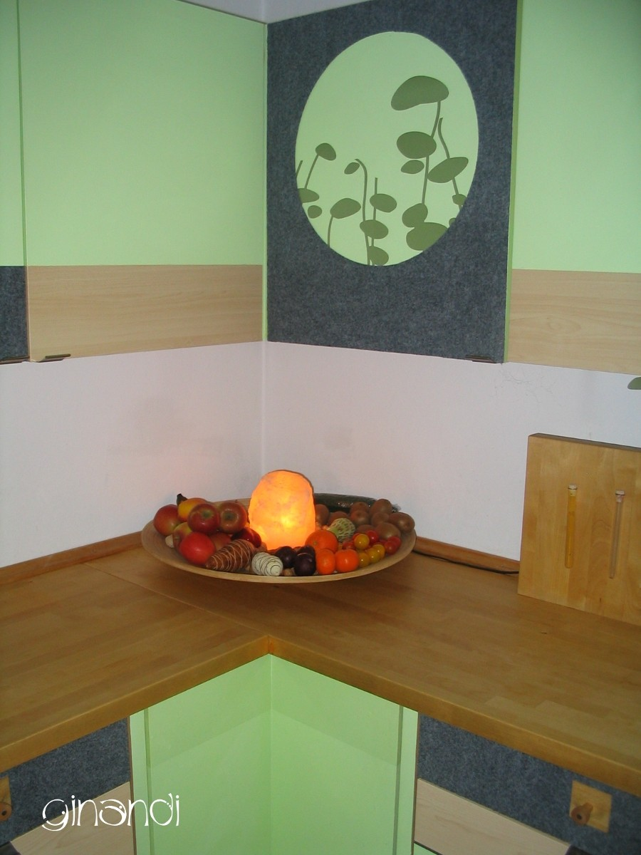 NACHHER: helle, frische Obst-Ecke mit Beleuchtung
