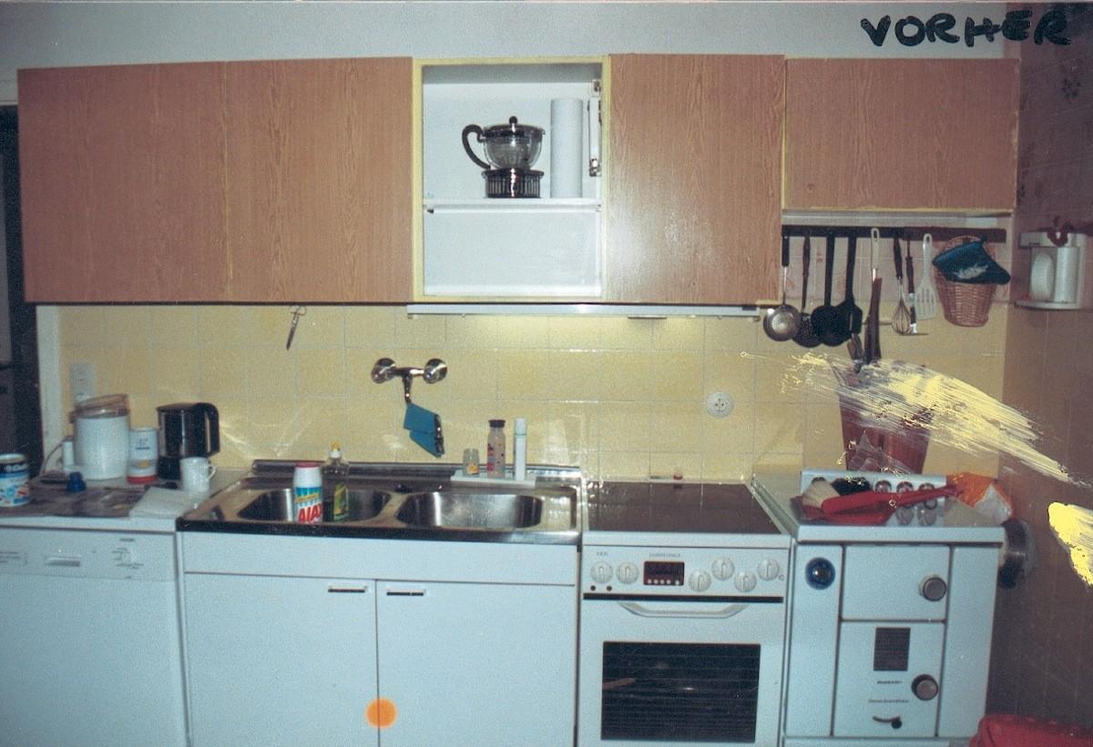 VORHER: alter Kochbereich