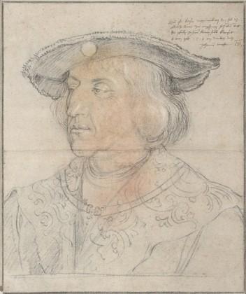 """Albrecht Dürer, """"L'Empereur Maximilien Ier"""", 1518, pastels et craie, Albertina, Vienne. (source : http://www.albertina.at)"""