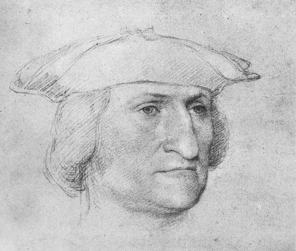 """Jean CLOUET, """"Portrait d'un homme inconnu"""", (s.d.), Chantilly, Musée Condée (source : WGA)."""