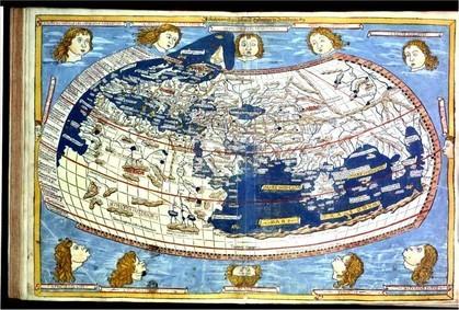 """John SCHNITZER, gravure du manuscrit de la """"Cosmographie"""" de Ptolémée, 1466, Bibliothèque Royale de Belgique (Inc. C 94 LP). Source : cliquez sur l'image."""