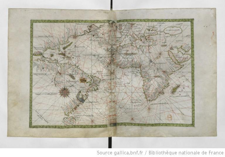 Francesco Ghisolfi, Atlas nautique du monde, 1560 (source : Gallica)