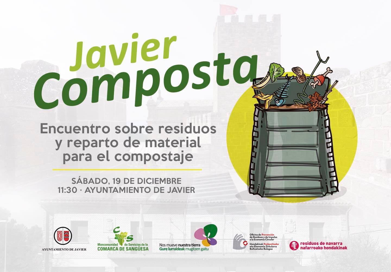 Este sábado, encuentro en Javier sobre compostaje