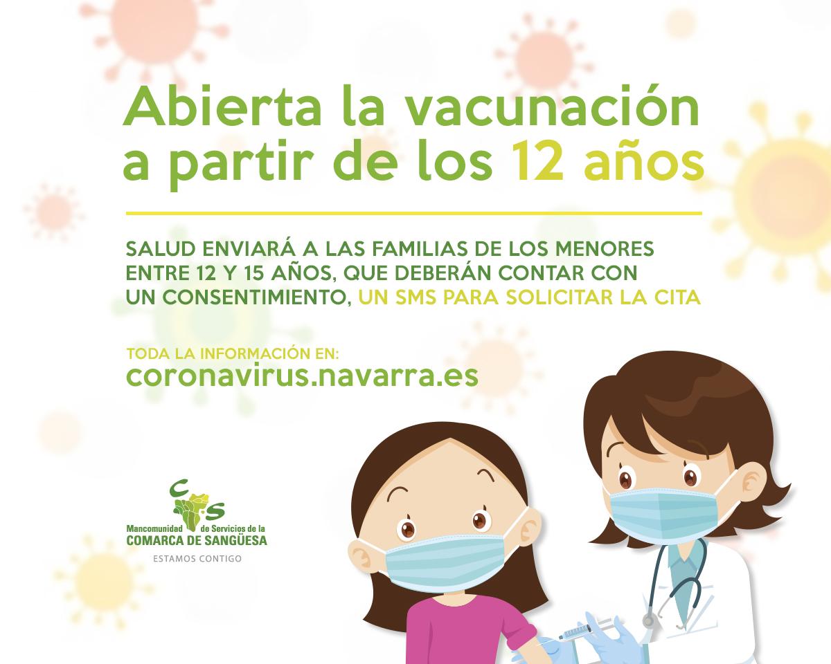 Abierta la vacunación del Covid-19 a partir de los 12 años
