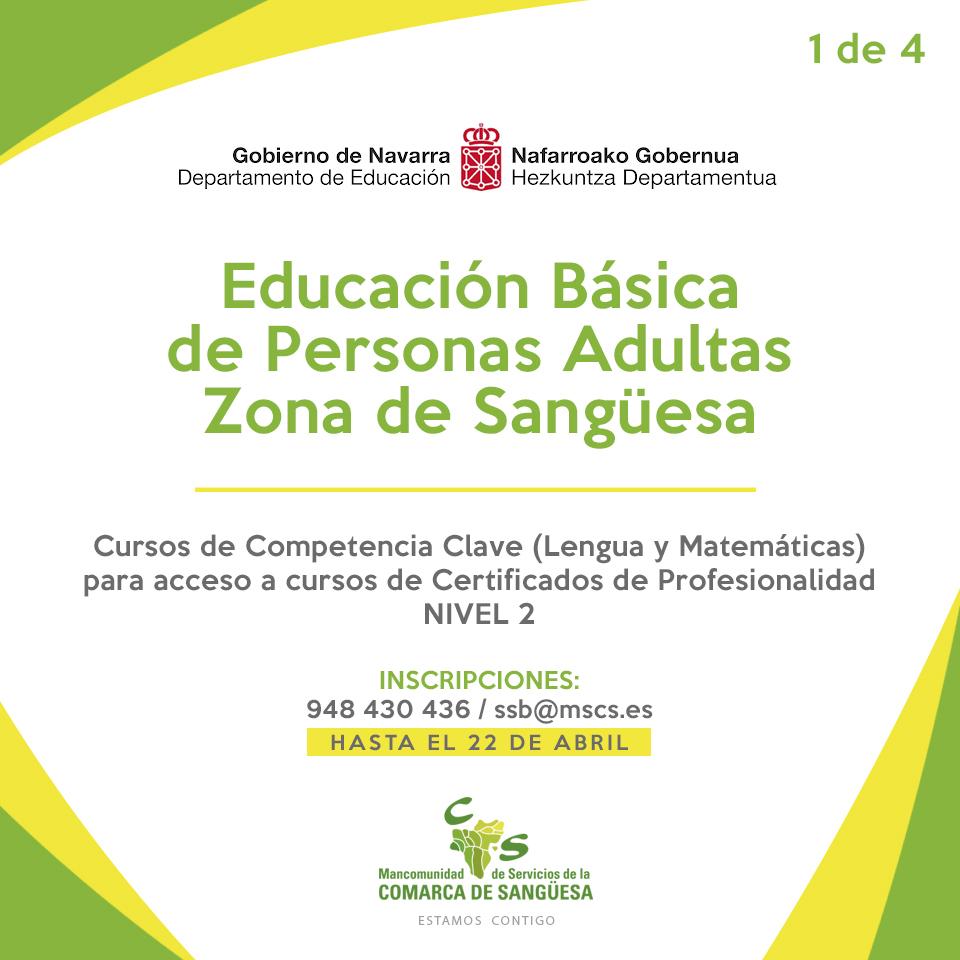 Cursos gratuitos de Competencia Clave (Lengua y Matemáticas) para adultos