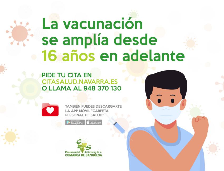 Las personas de 16 y 17 años pueden pedir cita para la vacunación desde el lunes, 26 de julio
