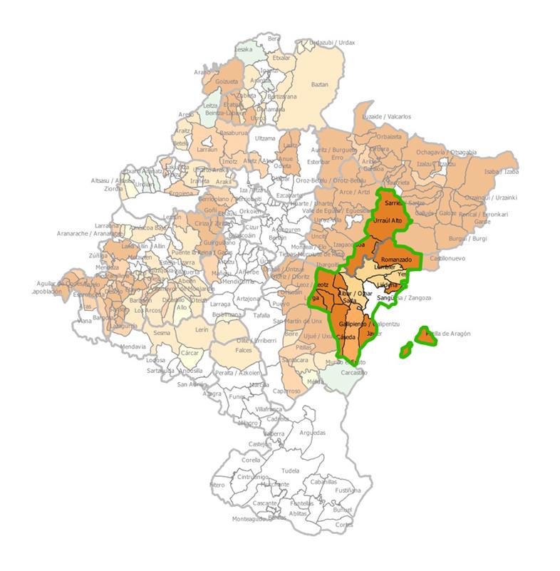 16 municipios del total de 17 que integramos la Mancomunidad se encuentran en riesgo de despoblación extremo, intenso o importante