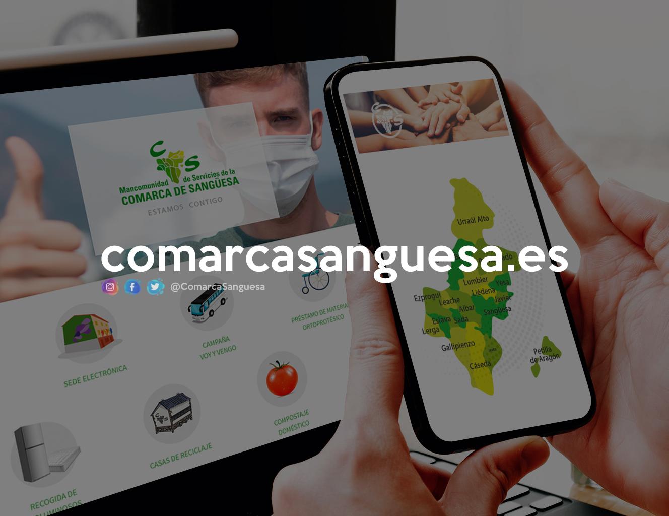 """ComarcaSanguesa.es: estrenamos nueva web, más fácil y clara, y reforzamos la """"identidad de Comarca"""""""