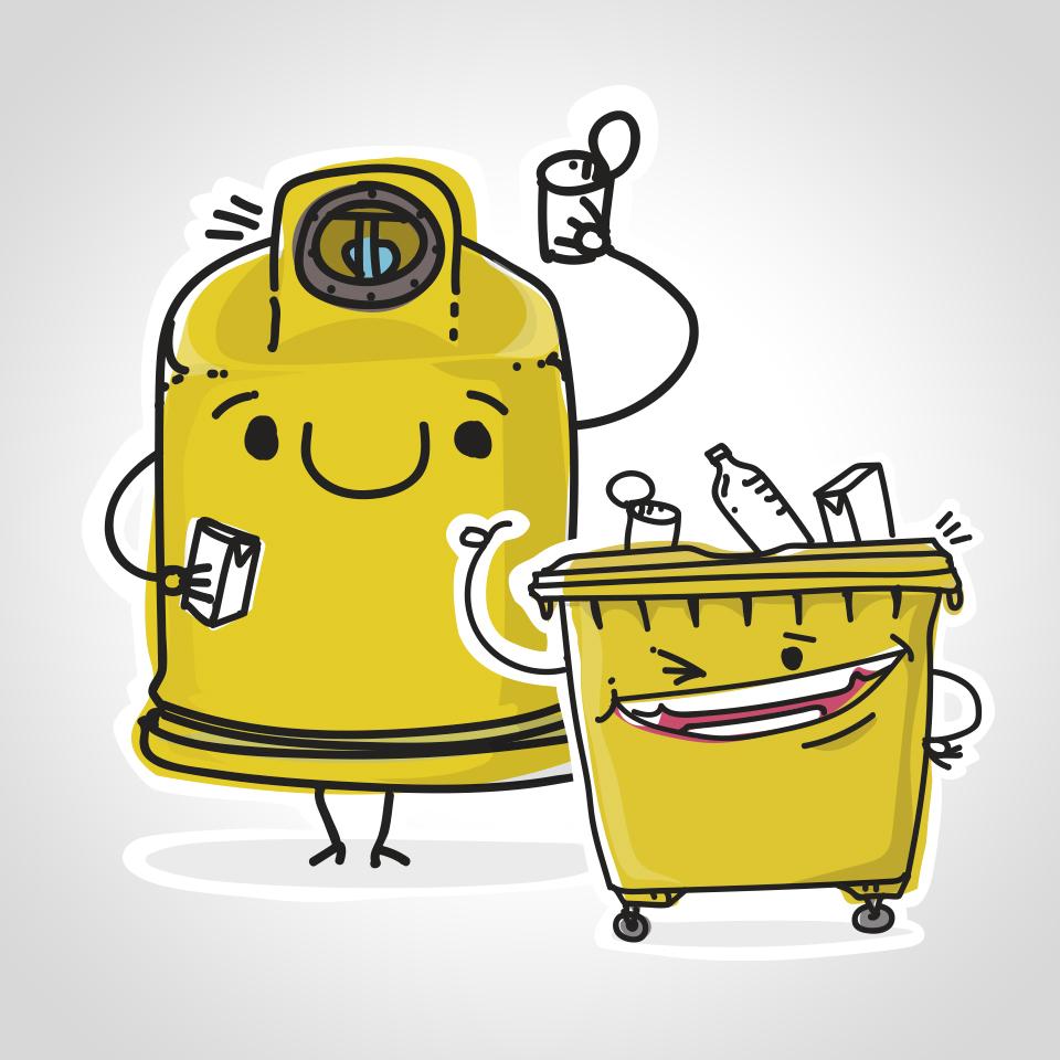 El uso del contenedor amarillo creció en Navarra un 8,2% en 2020 y un 11,24% en la Comarca de Sangüesa