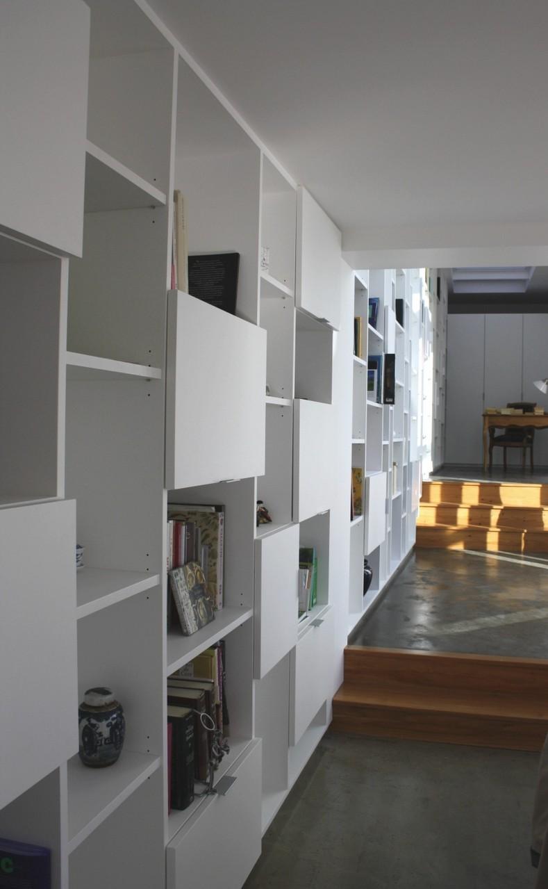 Bibliothèque MDF peinte