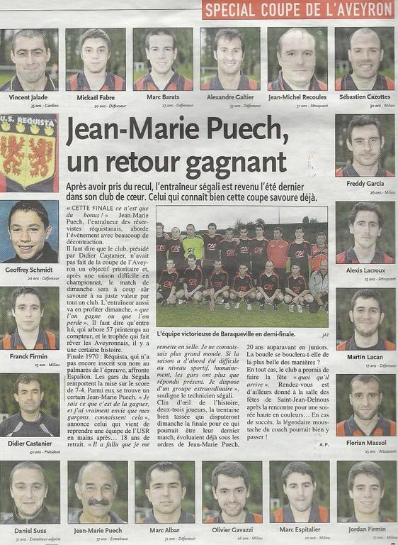 2010 - Finale Coupe d'Aveyron