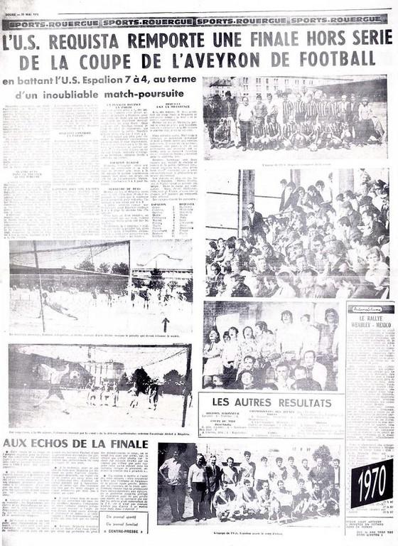 1970 - Finale Coupe d'Aveyron.