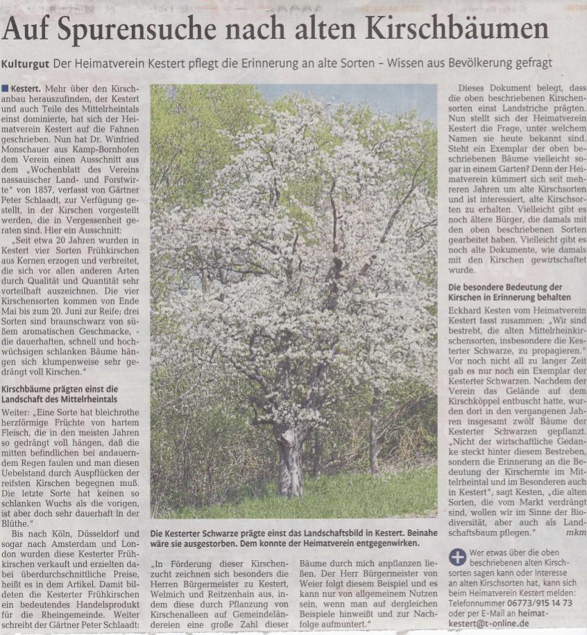 Bericht aus der Rhein-Zeitung vom 29.12.2016
