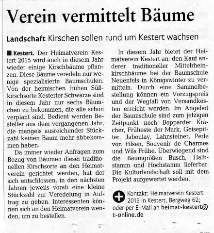 Bericht aus der Rhein-Zeitung vom 27.10.2016