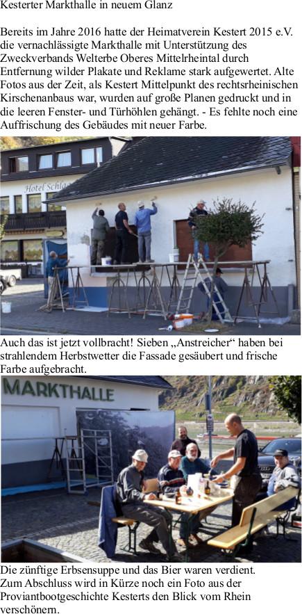 Pressebericht in der Rhein-Lahn-Zeitung zur Renovierung der Markthalle vom 05.10.2018