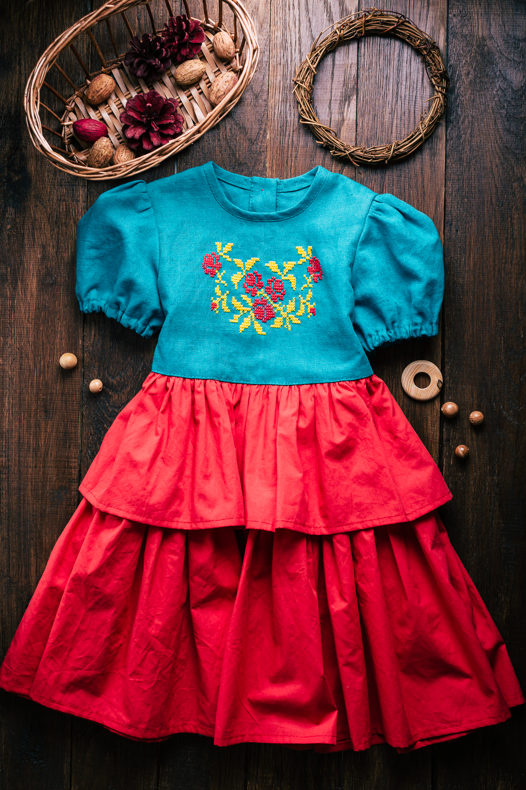russian style dress for baby girls  100$