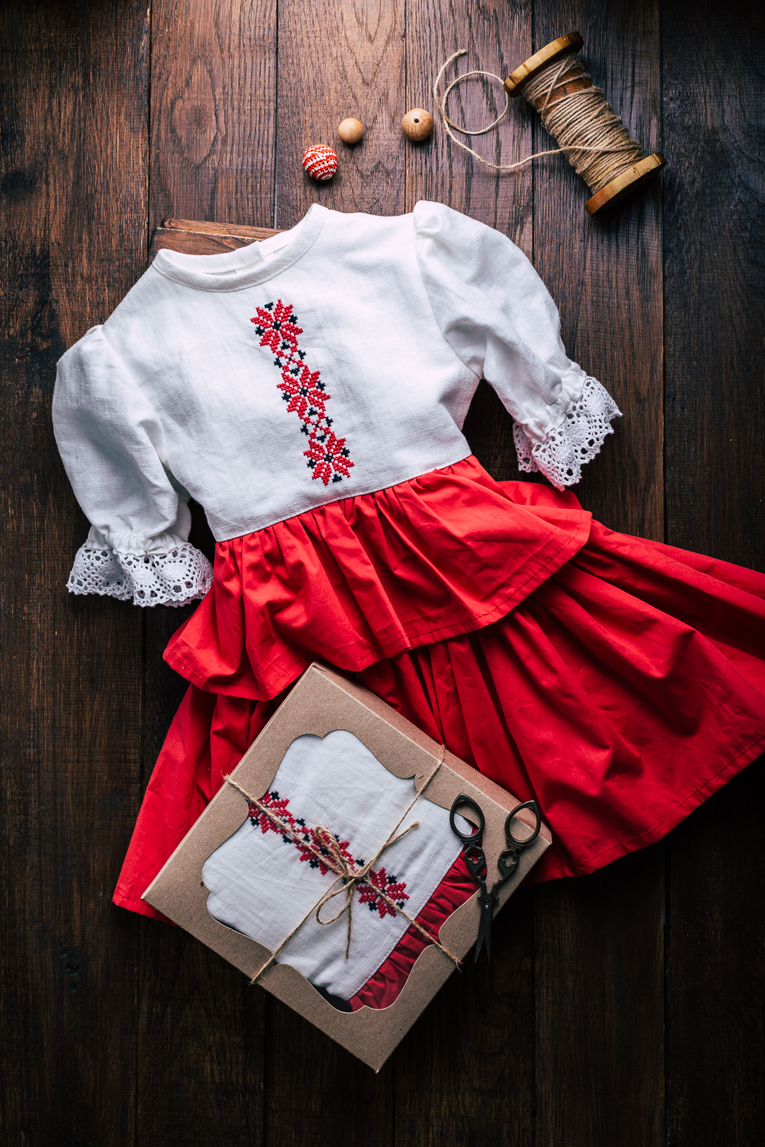 russian style dress for girls