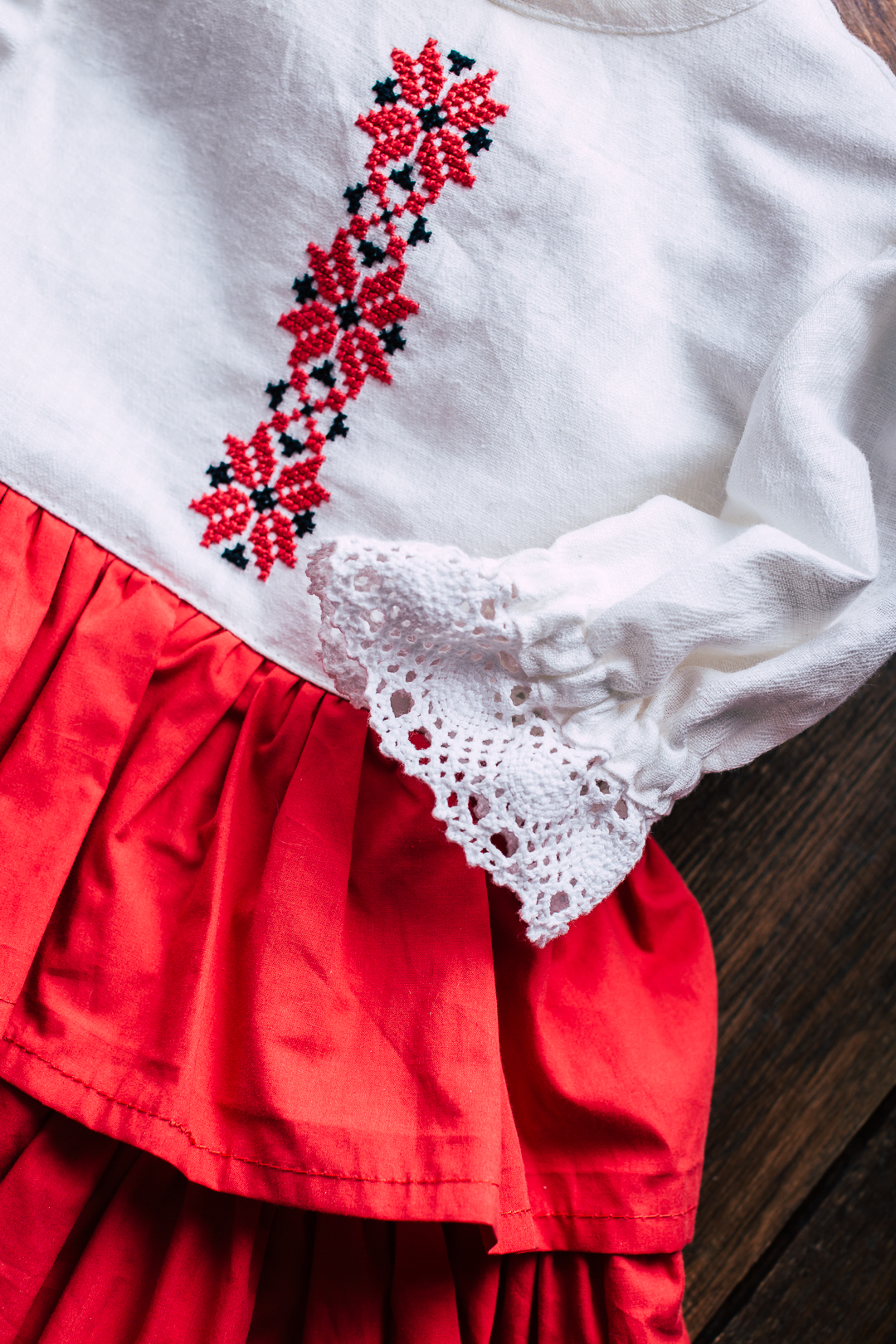 slavic embroidered dress for baby girl