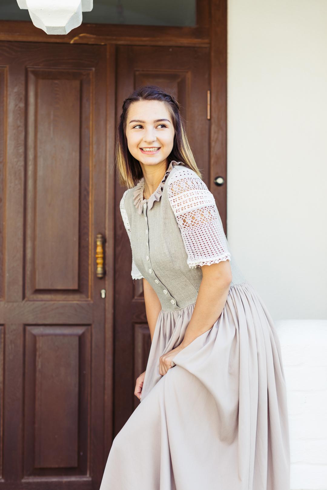 платье длинное в русском стиле