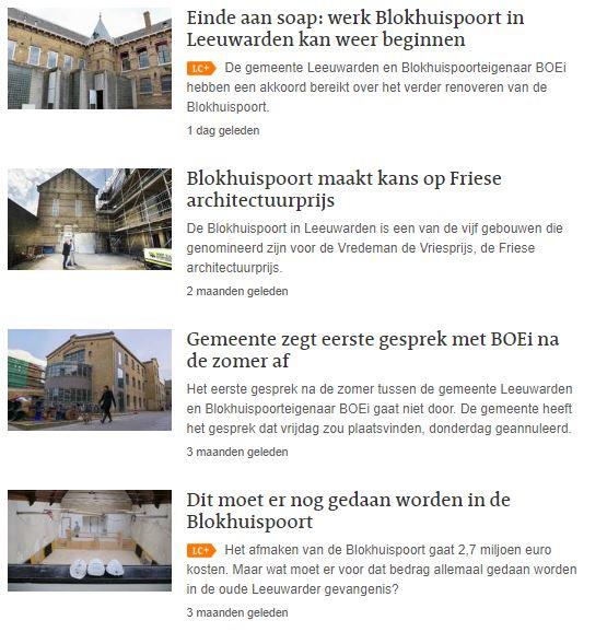 Dossier Blokhuispoort