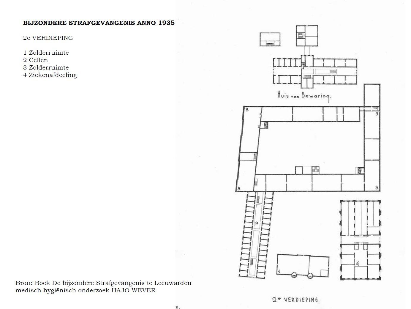 Plattegrond strafgevangenis en Huis van Bewaring Leeuwarden