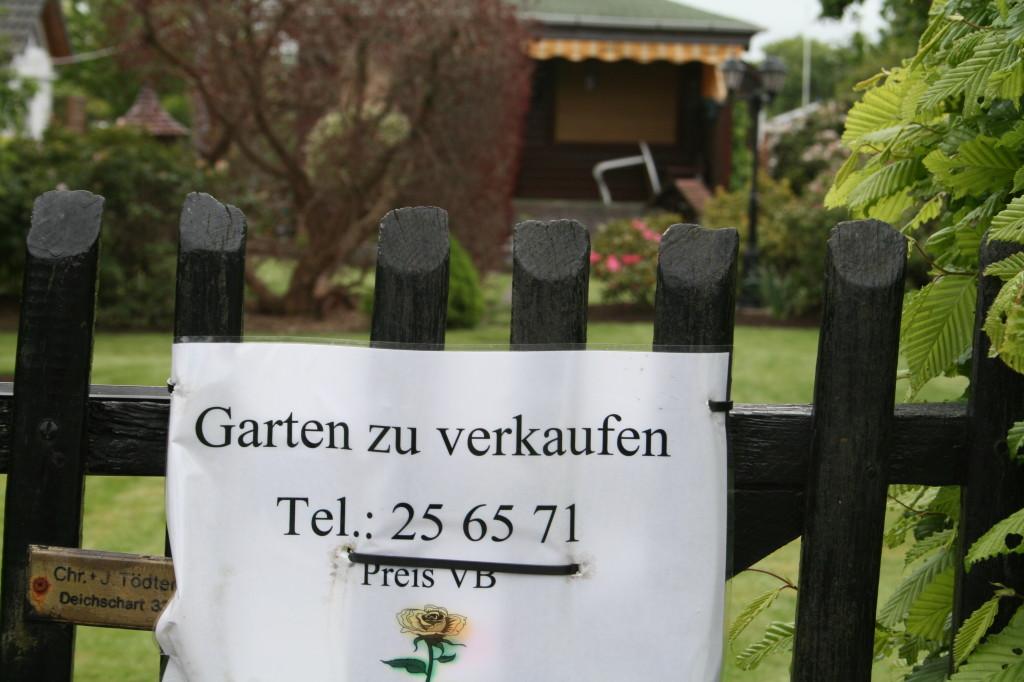 Hier wird ein Garten frei
