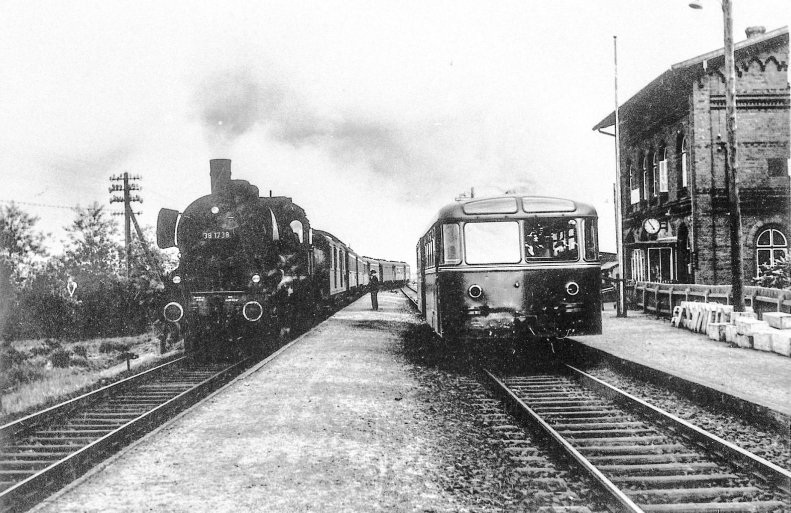 Der Bahnhof in den 50ern