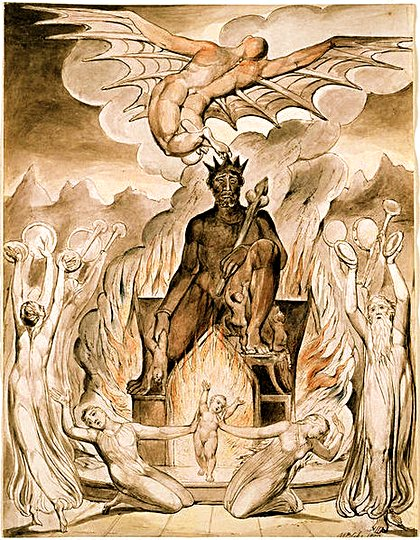 William Blake, 1809: On the Morning of Christ's Nativity (Purgatory)