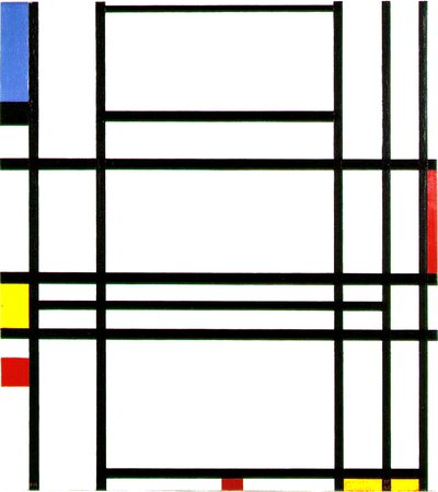 Piet Mondrian, 1942: Composition 10