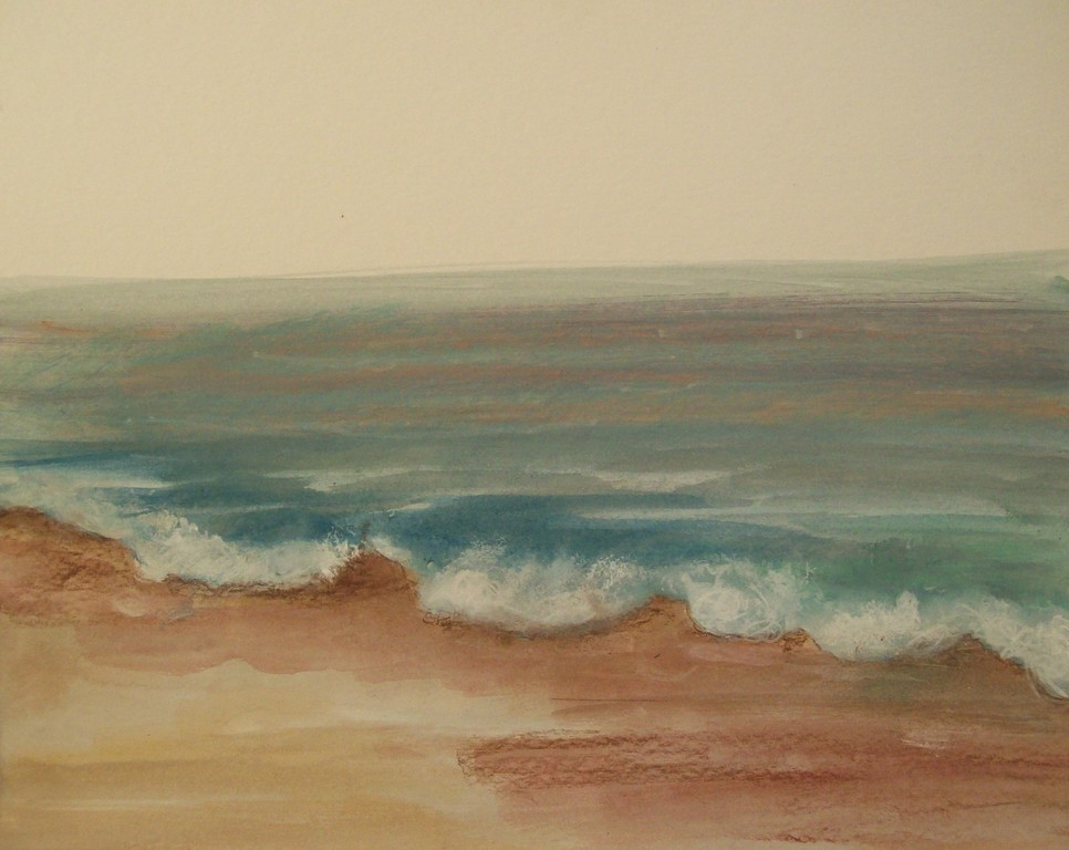 Sea 2 40X50cm acrylic on cardboard