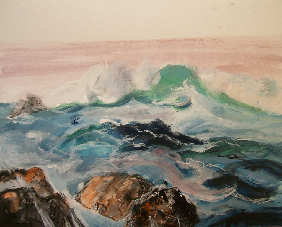 Sea1  40X50cm acrylic on cardboard
