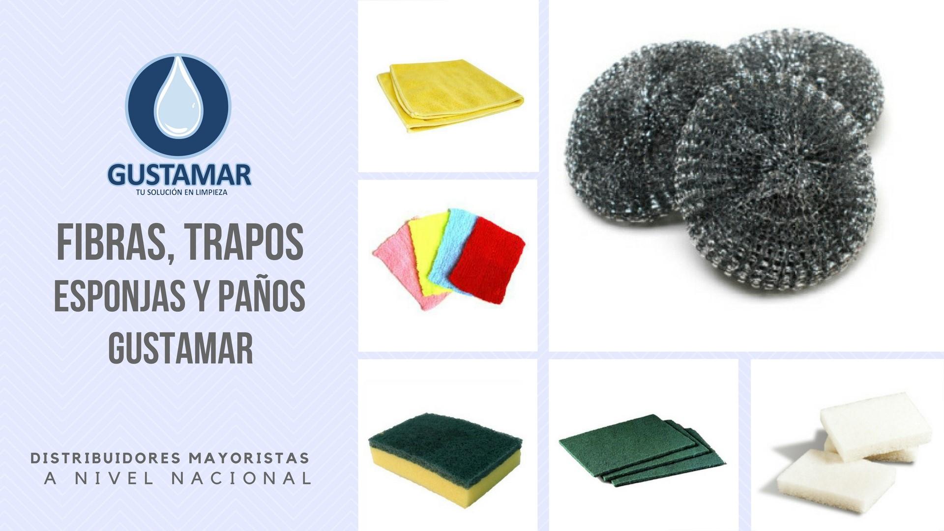 FIBRAS, TRAPOS, ESPONJAS Y PAÑOS