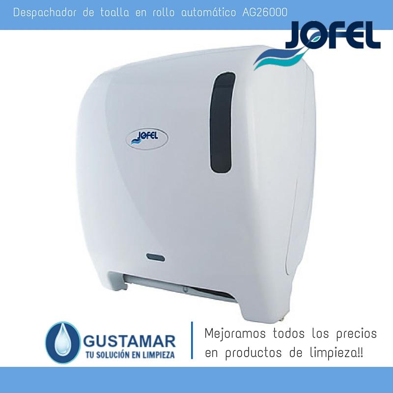 Despachadores / Dispensadores /Dosificadores / Toalla en Rollo / Toalla de papel / Papel en Rollo Futura AG26000 Automático Sensor JOFEL
