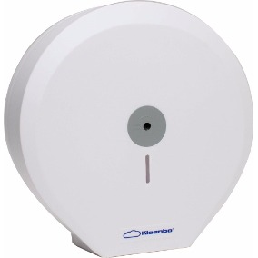Despachadores de Papel Higiénico Blanco Kleenbo Maxi PR42300. Color: Blanco Dimensiones en milímetros: Alto: 355 Largo: 350 Ancho: 140 Contenido por caja: 1 pieza
