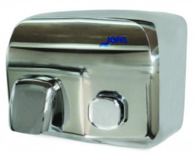 Secador pulsador Silver AA91126 Color: Inoxidable brillante Material: Acero/ABS Cubierta: Inoxidable Dimensiones en milímetros: Alto: 210 Largo: 280 Ancho: 220 Contenido por caja: 1 pieza