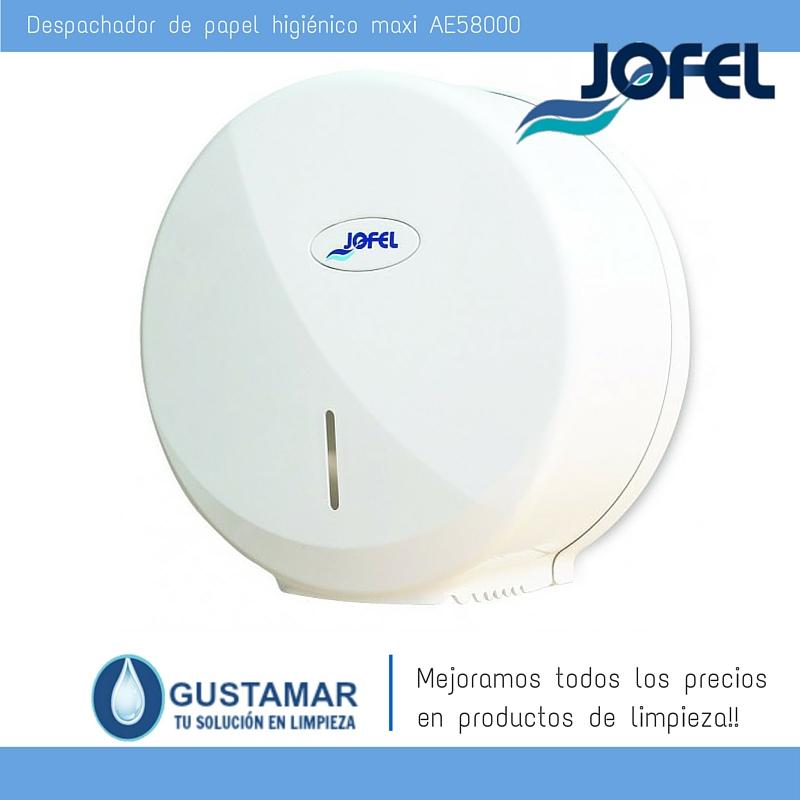 Despachador / Dispensador  de Papel Higiénico Institucional para Baño Jofel AE58000