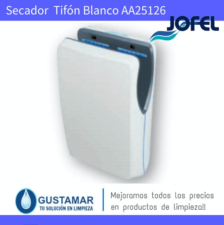 SECADORES DE MANOS JOFEL / SECAMANOS TIFON BLANCO CON FILTRO HEPA ÓPTICO AA25126.JOFEL