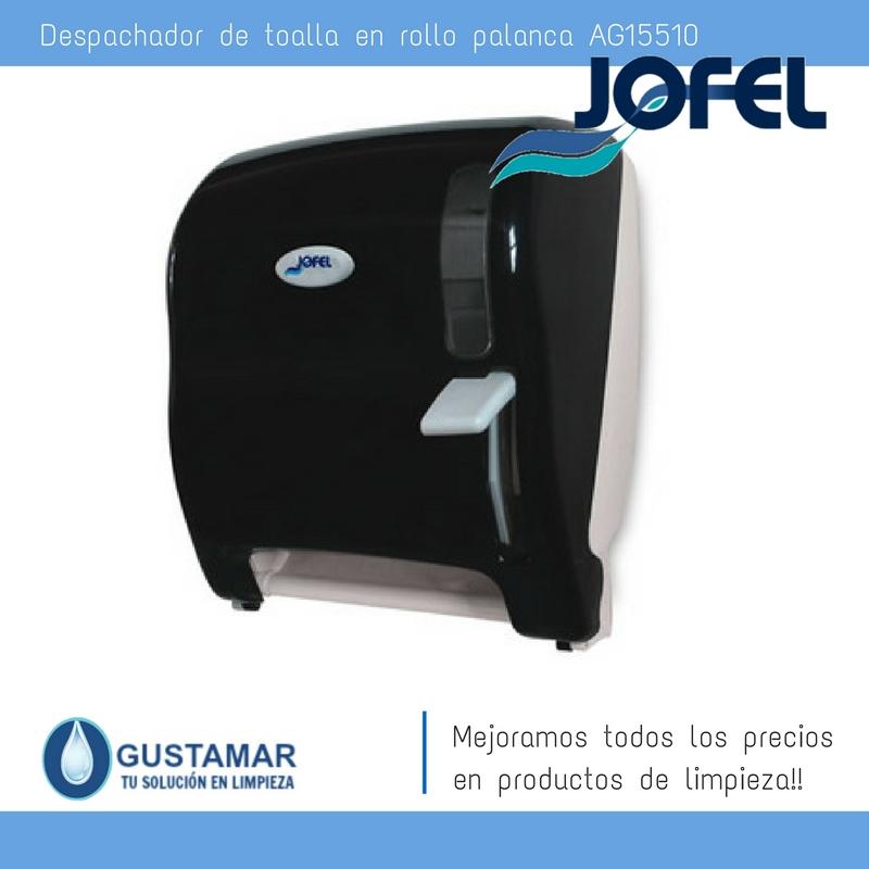Despachadores / Dispensadores /Dosificadores / Toalla en Rollo / Toalla de papel / Papel en Rollo AZUR AG15510 Palanca Manual JOFEL