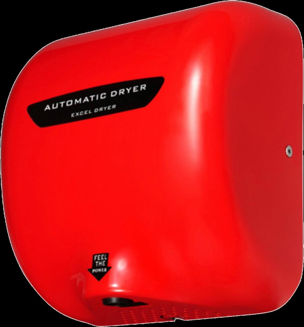 Secador de Manos Acero Inoxidable. Óptico Rojo. Voltaje 110V. Velocidad de aire 90m/s. Tiempo de Secado de 7 a 16 segundos. Peso: 4.5 kg. Medidas: 295 X 171 X 325 mm