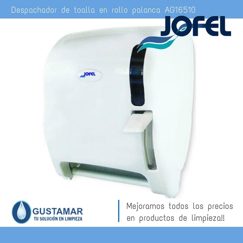 Despachadores / Dispensadores /Dosificadores / Toalla en Rollo / Toalla de papel / Papel en Rollo AZUR AG16510 Palanca Manual JOFEL