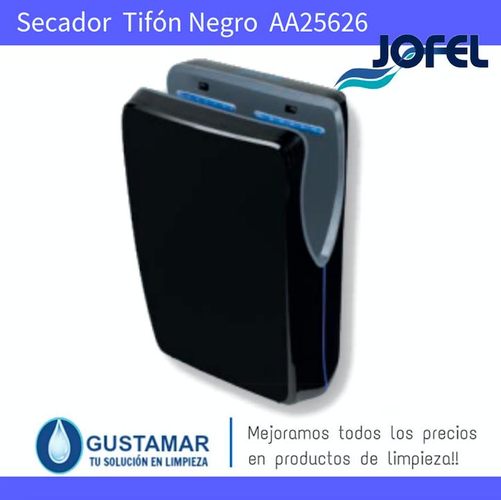 SECADORES DE MANOS JOFEL / SECAMANOS TIFON NEGRO CON FILTRO HEPA ÓPTICO AA25626 JOFEL