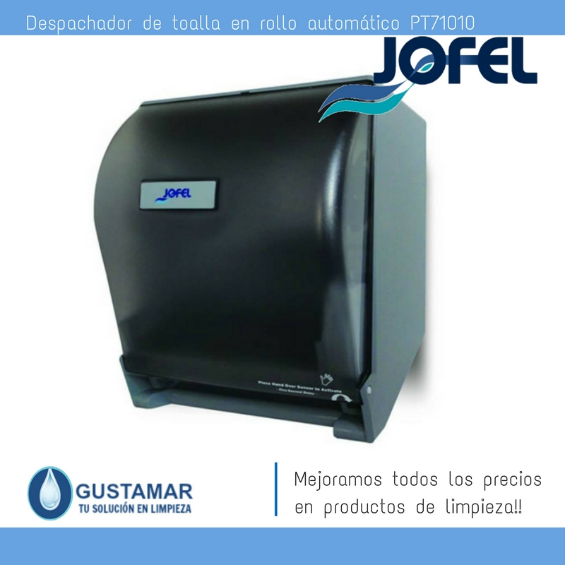 Despachadores / Dispensadores /Dosificadores / Toalla en Rollo / Toalla de papel / Papel en Rollo Altera PT71010 Automático Sensor JOFEL