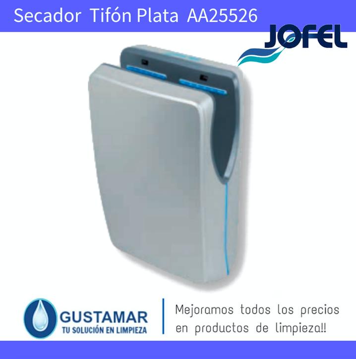 SECADORES DE MANOS JOFEL / SECAMANOS TIFON PLATA CON FILTRO HEPA ÓPTICO AA25526 JOFEL