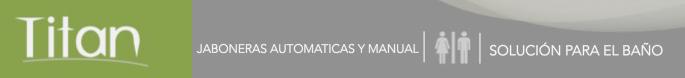 JABONERAS AUTOMÁTICAS Y MANUALES