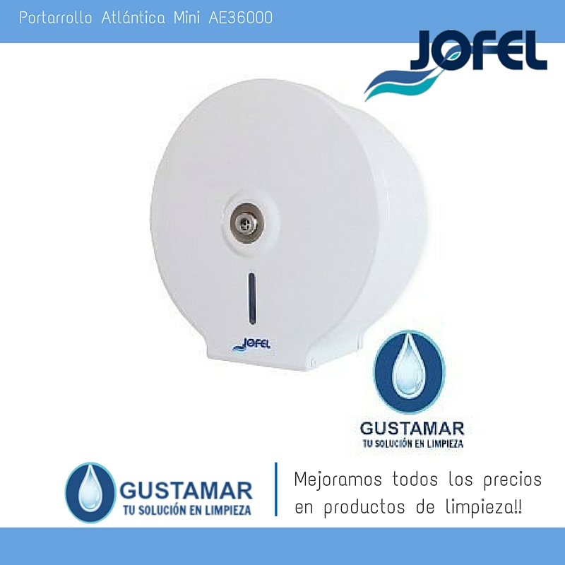 Despachador / Dispensador  de Papel Higiénico Institucional para Baño Jofel PH11000