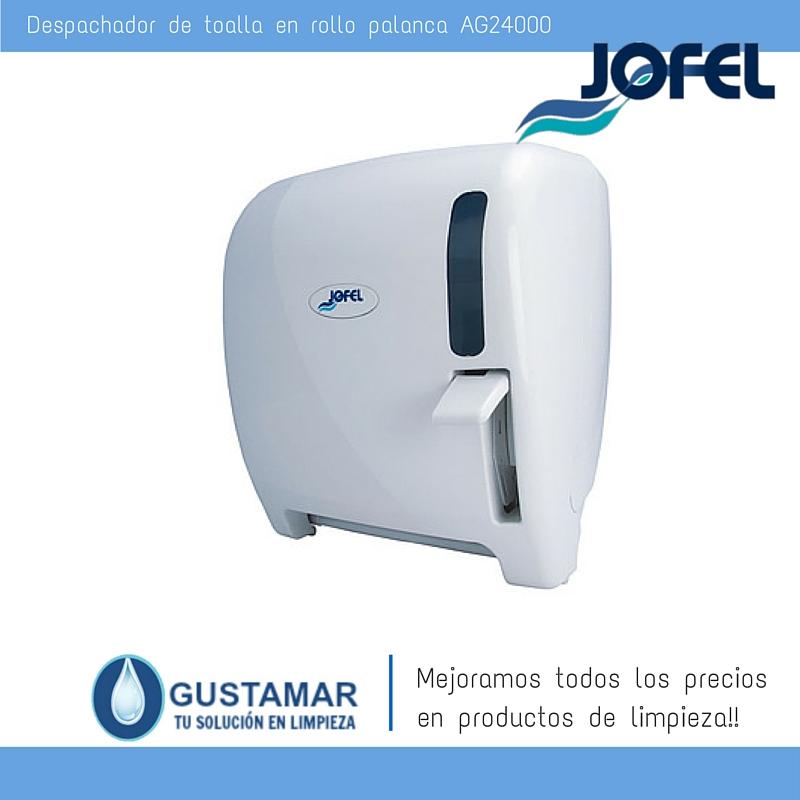 Despachadores / Dispensadores /Dosificadores / Toalla en Rollo / Toalla de papel / Papel en Rollo Futura AG24000 Palanca Manual JOFEL