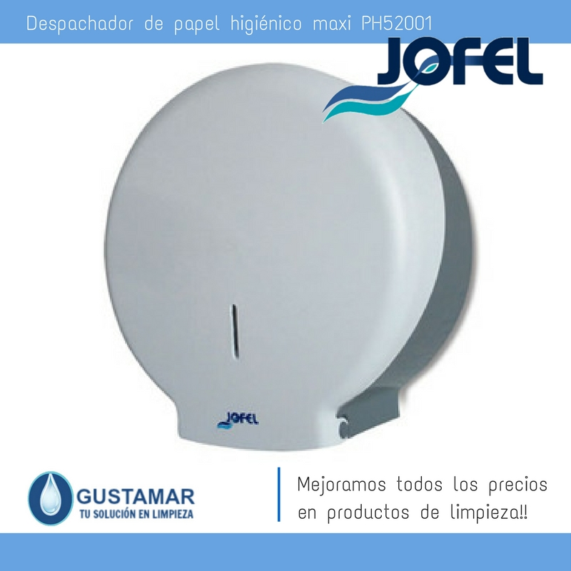 Despachador / Dispensador  de Papel Higiénico Institucional para Baño Jofel PH51001