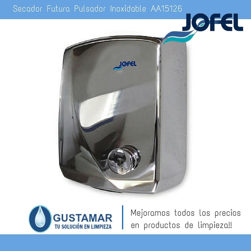 SECADORES DE MANOS JOFEL / SECAMANOS FUTURA INOXIDABLE PULSADOR AA15126 JOFEL
